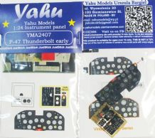 Yahu Models YMA2407 1/24 PE Republic P-47D Thunderbolt early instrument panel